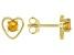 Golden Citrine Child's 10k Yellow Gold Heart Stud Earrings .20ctw