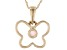 """Multi Color Ethiopian Opal 10k Yellow Gold 12"""" Child's Butterfly Pendant With Chain 0.04ct"""
