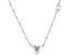 Blue Aquamarine Rhodium Over Silver Heart K Children's Necklace .22ct