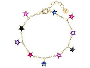 Purple Amethyst 18k Yellow Gold Over Sterling Silver Children's Bracelet 1.96ctw
