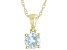 Sky Blue Topaz 10K Yellow Gold Children's Pendant With Chain 0.27ct