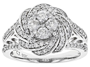 White Diamond Ring 10k White Gold 1.00ctw.