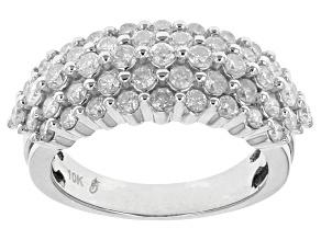 White Diamond Ring 10k White Gold 1.50ctw.