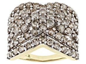 Candlelight Diamond™ Ring 10k Yellow Gold 4.00ctw