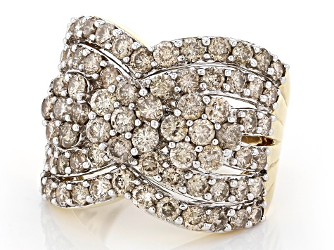 Candlelight Diamonds™ 10k Yellow Gold Ring 4.00ctw