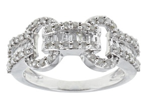 White Diamond Ring10k White Gold .75ctw.