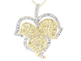 Yellow And White Diamonds 10k Yellow Gold Pendant .72ctw