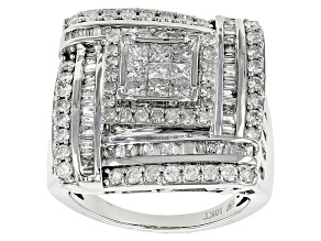 Diamond 10k White Gold Ring 2.25ctw
