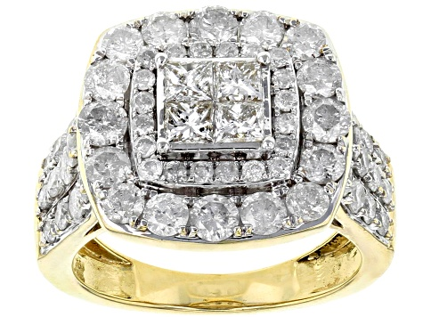Diamonds 10k Yellow Gold Ring 3.75ctw