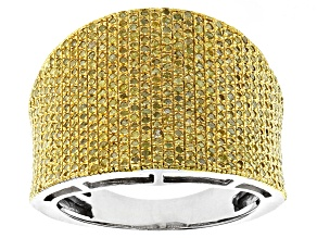Yellow Diamond Silver Band 1.00ctw