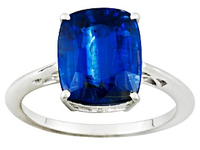 Kyanite 4.25ct 10k White Gold Solitaire Ring