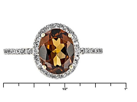 Red Color Shift Garnet 10k Yellow Gold Ring 2.10ctw