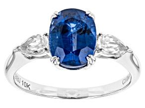 Blue Kyanite 10k White Gold Ring 2.65ctw