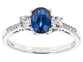 Blue Kyanite 10k White Gold Ring 1.20ctw