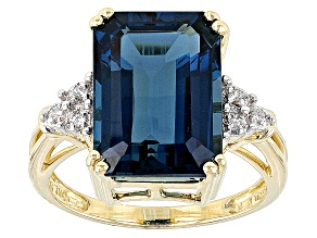London Blue Topaz 10k Yellow Gold Ring 8.63ctw