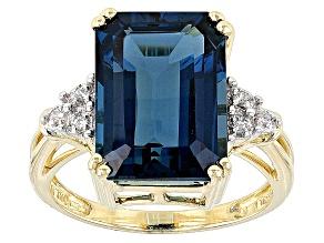 London Blue Topaz 10k Yellow Gold Ring 8.63ctw