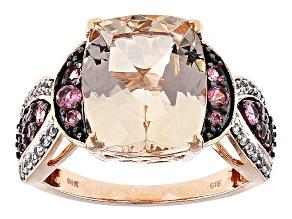 Pink Morganite 10k Rose Gold Ring 5.19ctw