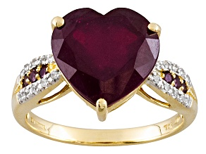 Mahaleo Ruby 10k Yellow Gold Ring 7.75ctw