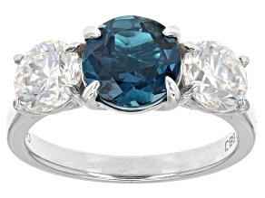 London Blue Topaz 10k White Gold Ring 4.04ctw