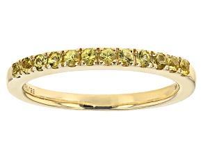 Yellow Sapphire 10k Yellow Gold Ring .33ctw