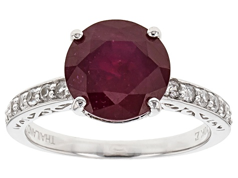 Mahaleo Ruby 10k White Gold Ring 5.16ctw