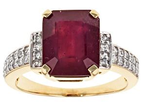 Mahaleo Ruby 10k Yellow Gold Ring 6.32ctw