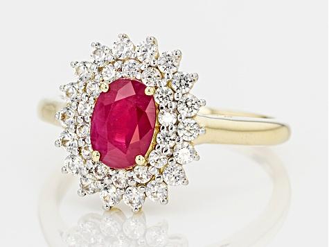 e5e1ff60a3e6c Red Burmese Ruby 14k Yellow Gold Ring 1.67ctw