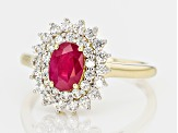 Red Burmese Ruby 14k Yellow Gold Ring 1.67ctw