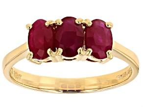 Red Burmese Ruby 14k Yellow Gold Ring 1.50ctw