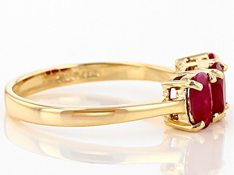 Red Burmese Ruby 14k Yellow Gold Ring 1.50ctw
