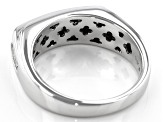 White Diamond 10K White Gold Mens Ring 1.00ctw