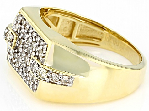 Candlelight Diamonds™ 10K Yellow Gold Mens Ring 0.75ctw