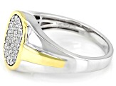 White Diamond 10K Two-Tone Gold Mens Ring 0.50ctw
