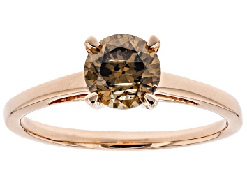 Picture of Champagne Diamond 10K Rose Gold Ring 1.00ctw