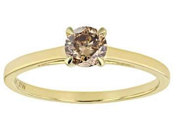 Picture of Champagne Diamond 10K Yellow Gold Ring 0.50ctw