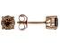 Champagne Diamond 10K Rose Gold Earrings 1.00ctw