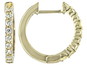 Natural Yellow Diamond 10K Yellow Gold Hoop Earrings 0.33ctw