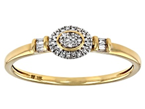 White Diamond Accent 10k Yellow Gold Promise Ring