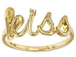 White Diamond Accent 10k Yellow Gold