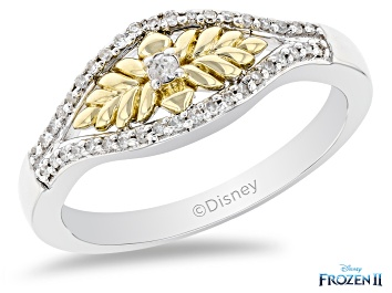 Picture of Enchanted Disney Anna Ring White Diamond 10K White And Yellow Gold 0.15ctw