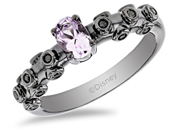 Picture of Enchanted Disney Villains Ursula Ring Amethyst And Black Diamond Black Rhodium Over Silver 0.50ctw