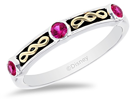 Enchanted Disney Villains Evil Queen Ring Lab Created Ruby Accent Rhodium & 14k Gold Over Silver