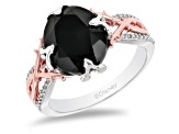 Enchanted Disney Villains Maleficent Ring Spinel & Diamond Rhodium & 14k Gold Over Silver 4.70ctw