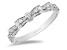 Enchanted Disney Snow White Bow Ring White Diamond 14k White Gold 0.25ctw