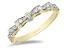 Enchanted Disney Snow White Bow Ring White Diamond 14k Yellow Gold 0.25ctw