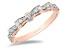 Enchanted Disney Snow White Bow Ring White Diamond 14k Rose Gold 0.25ctw