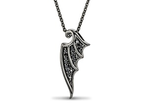 Enchanted Disney Villains Maleficent Pendant Black Diamond, Black Rhodium Over Silver