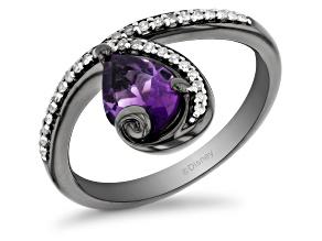 Enchanted Disney Villains Ursula Ring Amethyst and White Diamonds Black Rhodium Over Silver