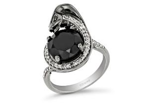 Enchanted Disney Villains Jafar Ring Black Onyx & Black Diamond Black Rhodium Over Silver 1.25ctw