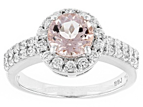 Pink Morganite Sterling Silver Ring 1.95ctw